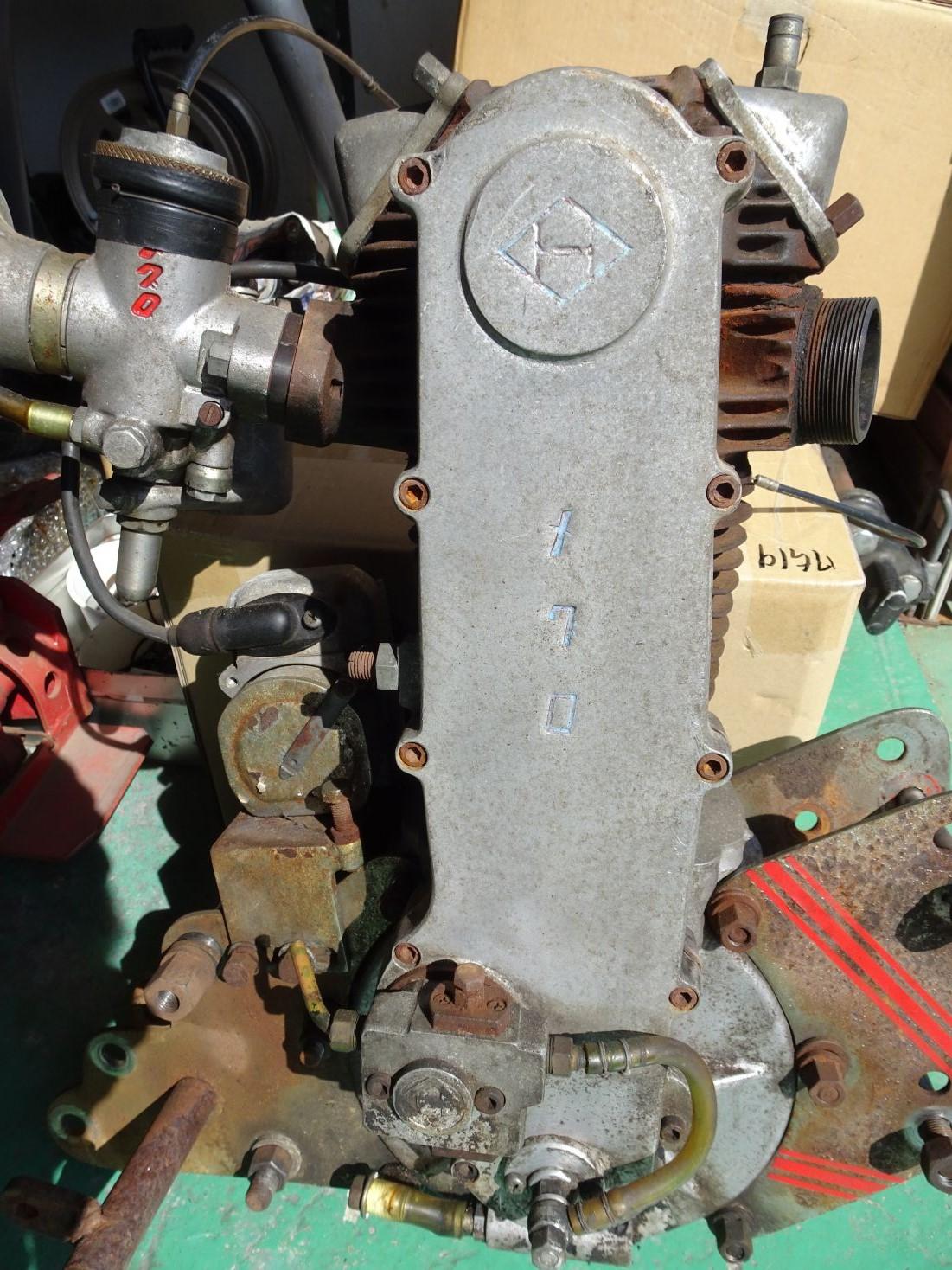 メグロのオートレーサーのエンジン